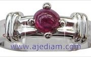 5cm_Cabochon_Ruby_solitaire_white_gold_ring_top_view_Ajediam